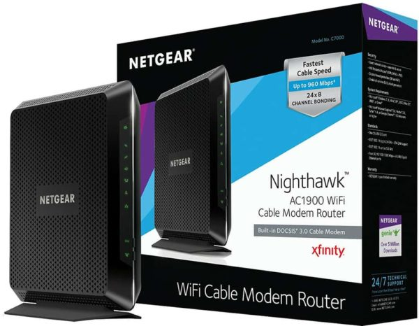 Netgear Nighthawk AC1900 Smart Wi-Fi Router (C7000)