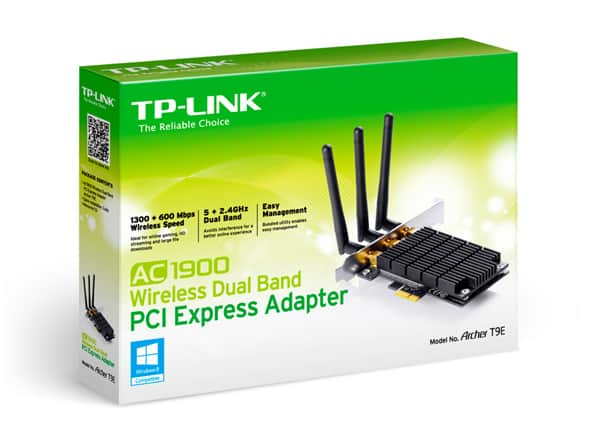 TP-Link AC1900 Wireless Dual Band PCI-Express Adapter Archer T9E